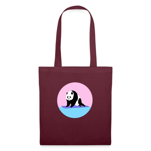 Yoga panda downward dog namaste - Tote Bag