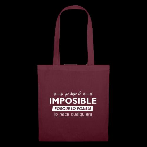 Lo imposible - Bolsa de tela