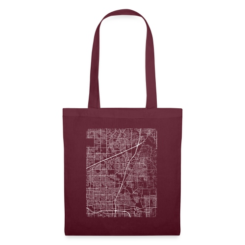 Minimal Allen city map and streets - Tote Bag