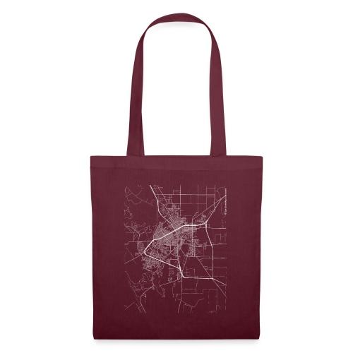 Minimal San Angelo city map and streets - Tote Bag