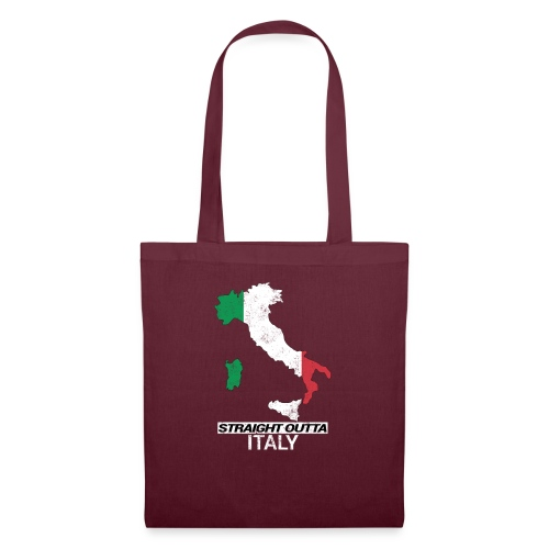 Straight Outta Italy (Italia) country map flag - Tote Bag