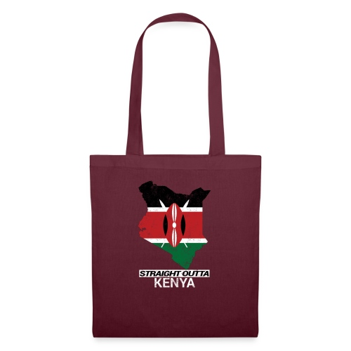 Straight Outta Kenya country map & flag - Tote Bag