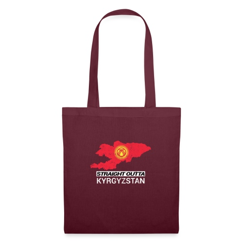 Straight Outta Kyrgyzstan country map - Tote Bag