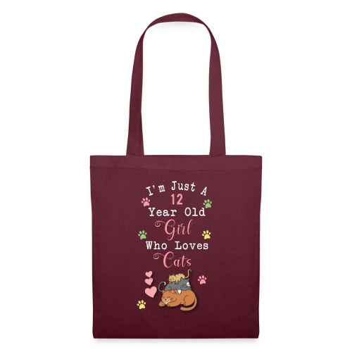 I'm just a 12 year old girl who loves cats - Tote Bag