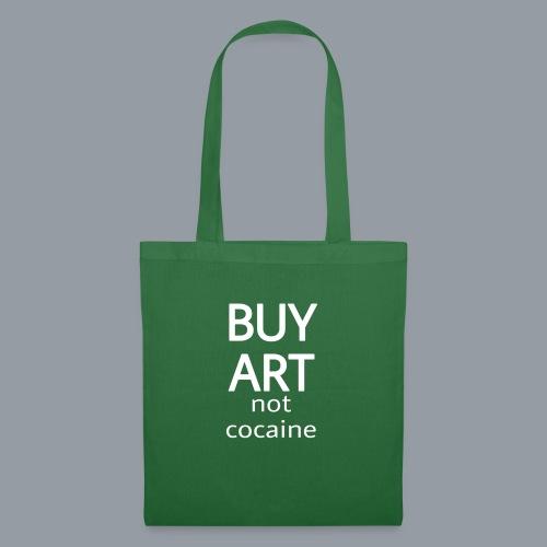 BUY ART NOT COCAINE (blanco) - Bolsa de tela
