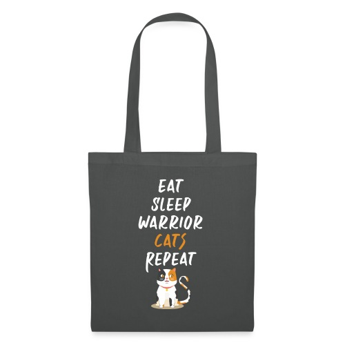 Eat sleep warrior cats repeat - Tote Bag