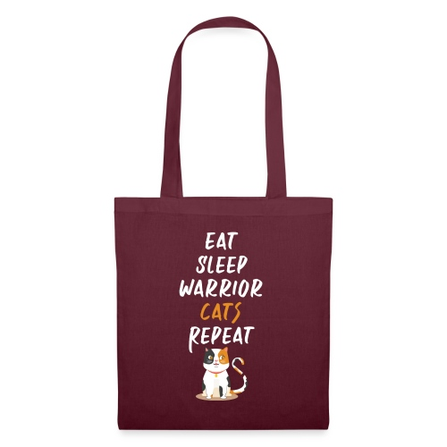 Eat sleep warrior cats repeat - Tote Bag