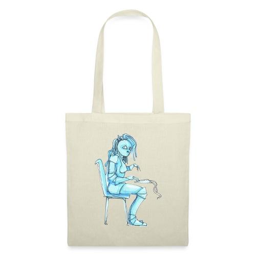 blue robot trimmed2 - Tote Bag