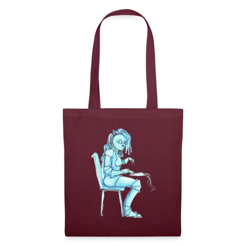 blue robot trimmed2 - Tote Bag