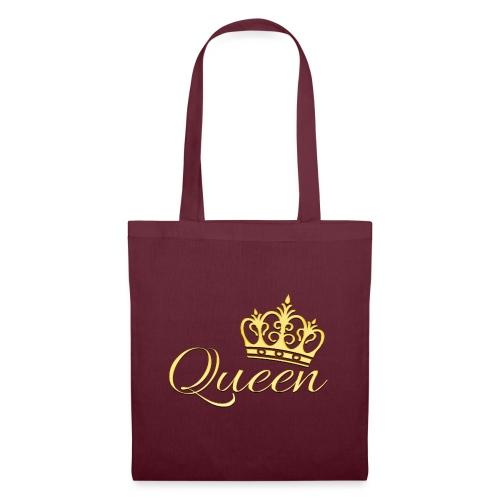 Queen Or -by- T-shirt chic et choc - Sac en tissu