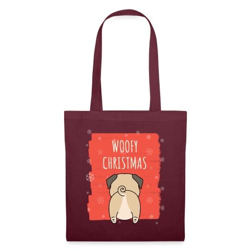 Grappige Kerstmis hond Woofy Christmas origineel - Tas van stof