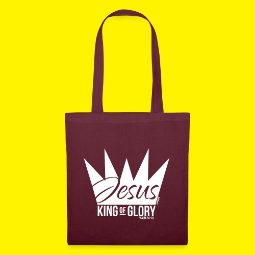 JESUS KING OF GLORY // Psalm 24:10 (WHITE) - Tote Bag