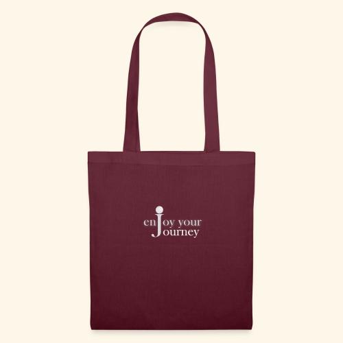 enjoy your journey Logo - weiß - Stoffbeutel