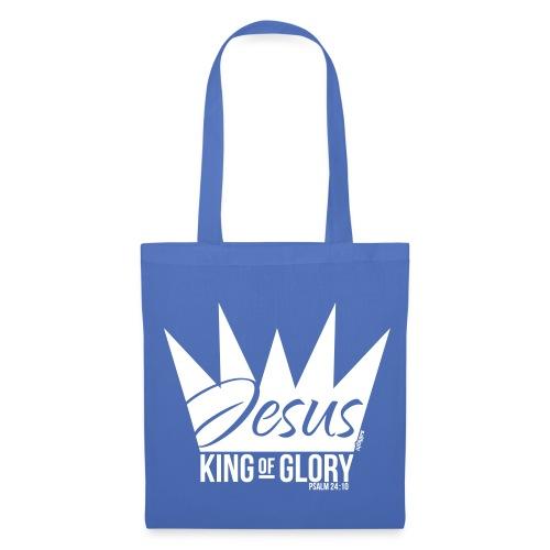 JESUS KING OF GLORY // Psalm 24:10 (WHITE) - Tote Bag