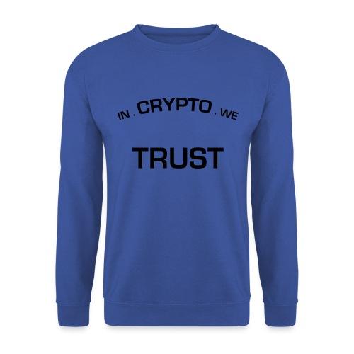 In Crypto we trust - Mannen sweater