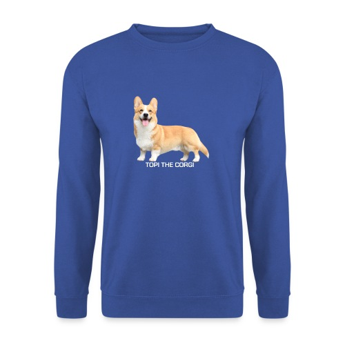 Topi the Corgi - White text - Men's Sweatshirt