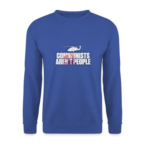 Communists aren't People (White) (No uzalu logo) - Men's Sweatshirt
