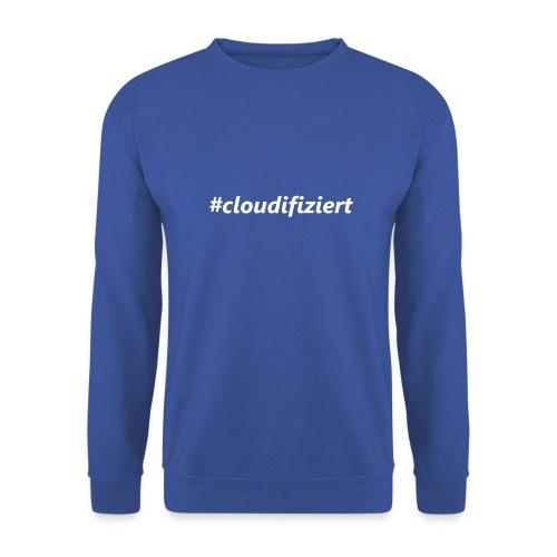 #Cloudifiziert white - Männer Pullover