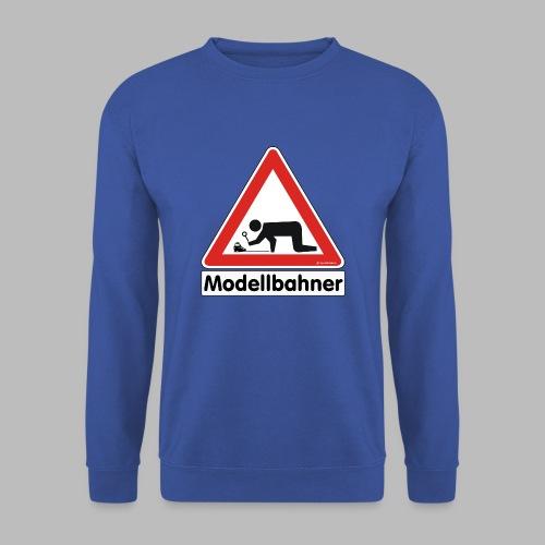 Warnschild Modellbahner E Lok - Männer Pullover