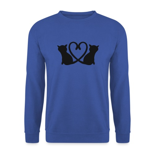 Katzen bilden ein Herz mit ihren Schwänzen - Männer Pullover