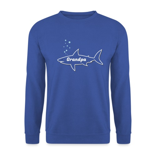 Grandpa shark - Fathers day gift - matching outfit - Unisex Pullover