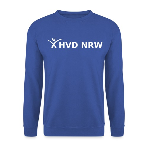 hvd nrw logo weiss transparent komplett - Männer Pullover