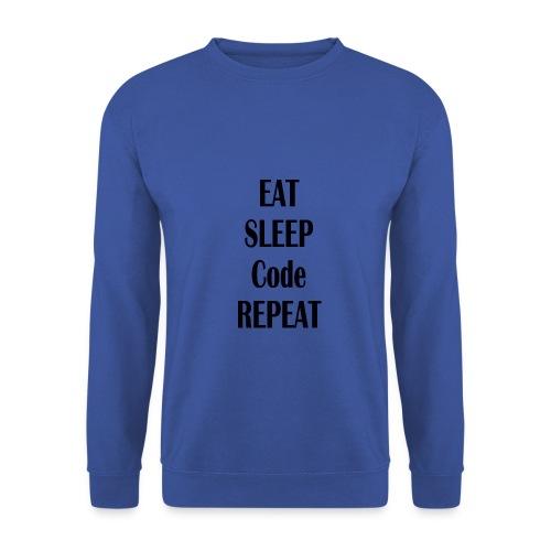 EAT SLEEP CODE REPEAT - Männer Pullover