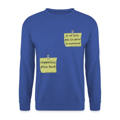 humoristique post-it - Sweat-shirt Unisex