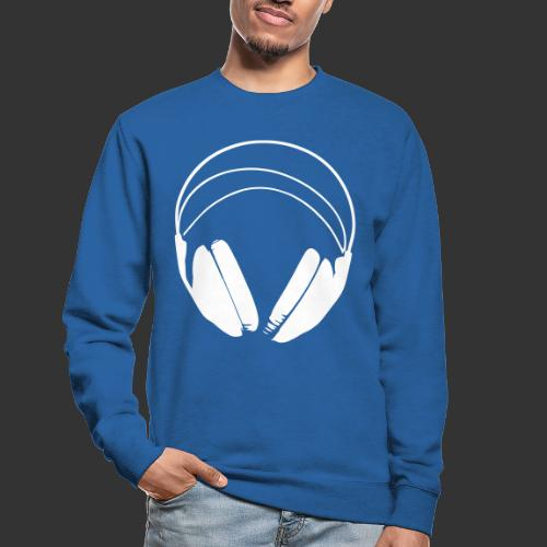 Casque blanc, logo de podradio vectorisé - Sweat-shirt Unisexe