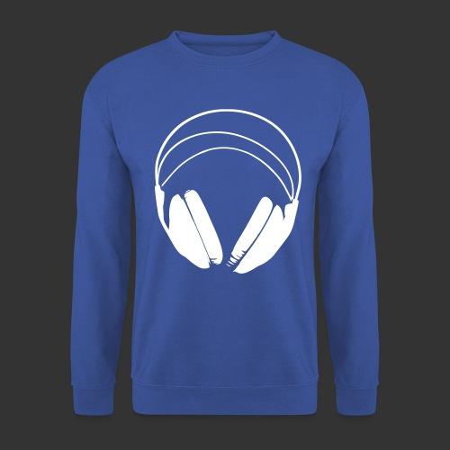Casque blanc, logo de podradio vectorisé - Sweat-shirt Unisex