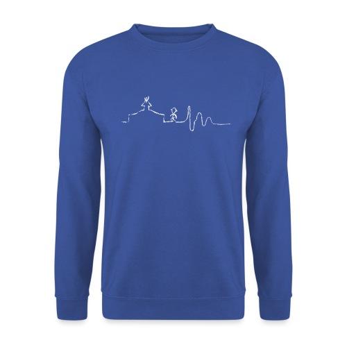 SCOUT.beat – Herzschlag Zelt & Mensch – Weiß - Unisex Pullover