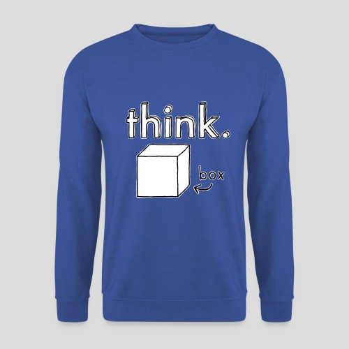 Think Outside The Box Illustration - Men's Sweatshirt