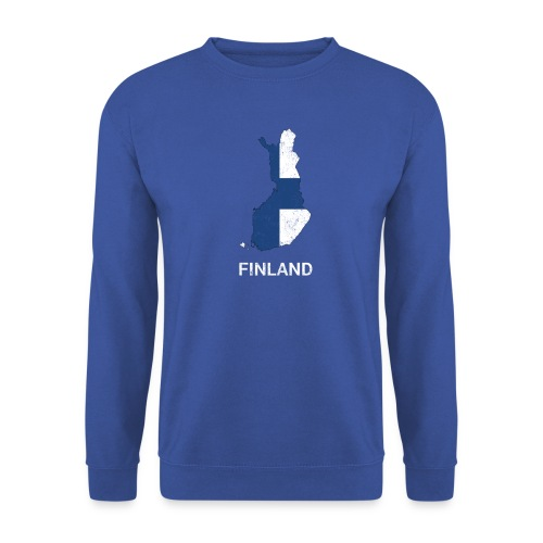Finland (Suomi) country map & flag - Unisex Sweatshirt