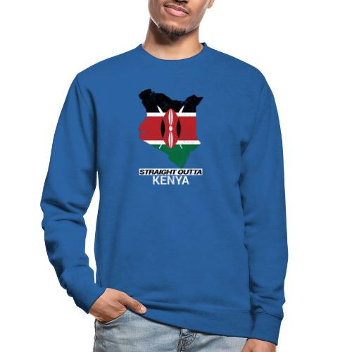 Straight Outta Kenya country map & flag - Unisex Sweatshirt