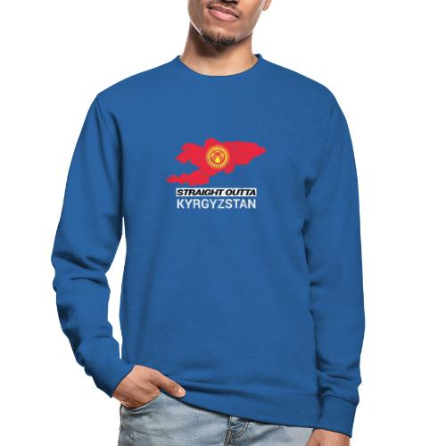 Straight Outta Kyrgyzstan country map - Unisex Sweatshirt