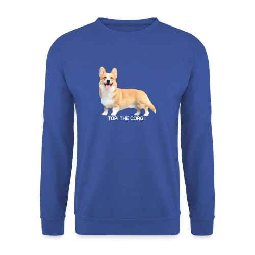Topi the Corgi - White text - Unisex Sweatshirt