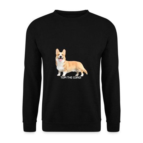 Topi the Corgi - White text - Men's Sweatshirt