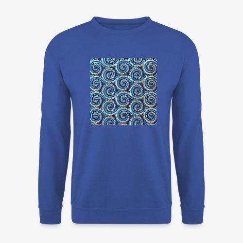 Spirales au motif bleu - Sweat-shirt Unisex