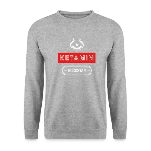 KETAMIN Rock Star - Weiß/Rot - Modern - Men's Sweatshirt