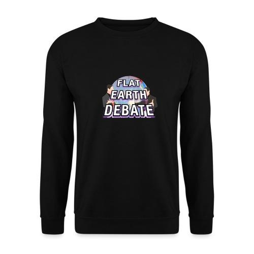 Flat Earth Debate Solid - Men's Sweatshirt
