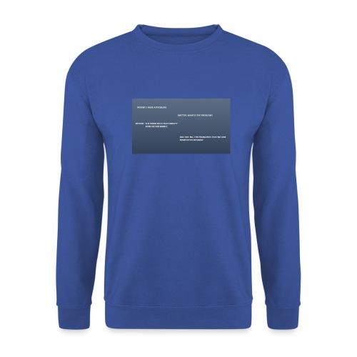 Running joke t-shirt - Men's Sweatshirt