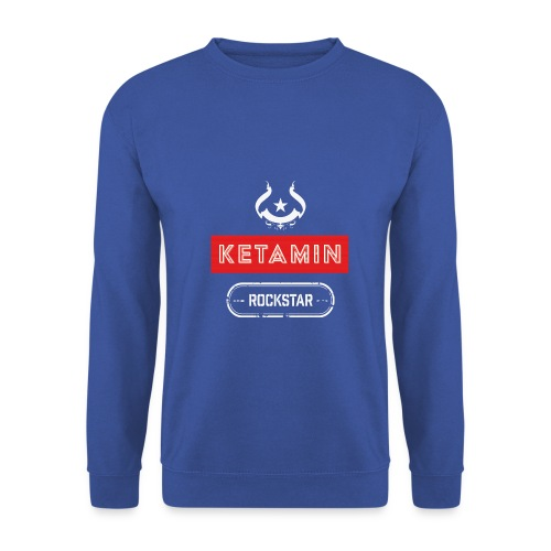 KETAMIN Rock Star - Weiß/Rot - Modern - Men's Sweatshirt