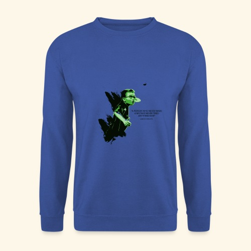 A person who never made mistake never tried any - Männer Pullover
