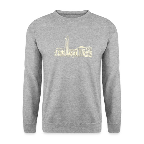 Helsinki railway station pattern trasparent beige - Men's Sweatshirt