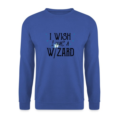 I Wish I Was A Wizard - Black - Men's Sweatshirt