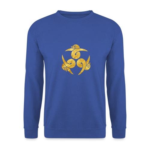 Three Geese Japanese Kamon in gold - Unisex Sweatshirt
