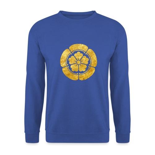 Oda Mon Japanese samurai clan faux gold on black - Unisex Sweatshirt