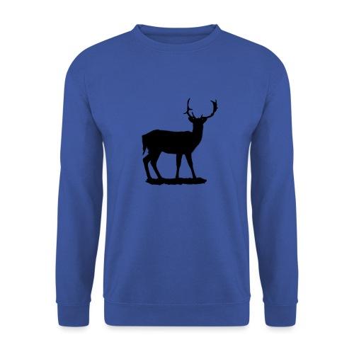 Silueta ciervo en negro - Sudadera unisex
