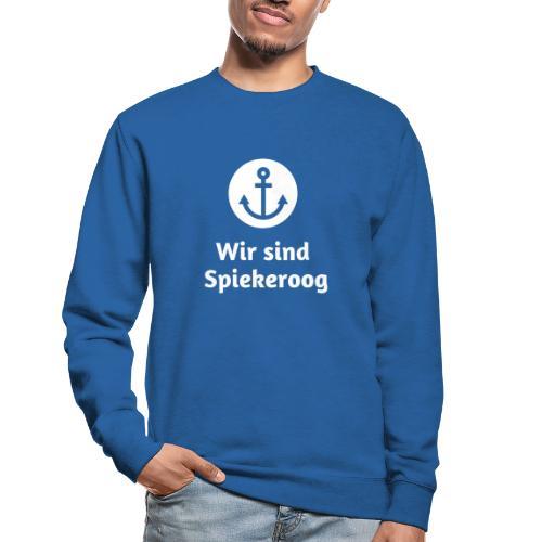 Wir sind Spiekeroog Logo weiss - Unisex Pullover