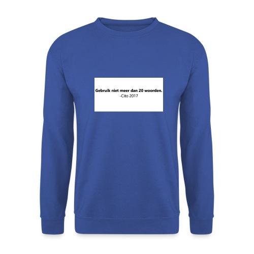 Gebruik niet meer dan 20 woorden - Mannen sweater